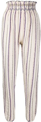 Forte Forte High-Waisted Striped Trousers
