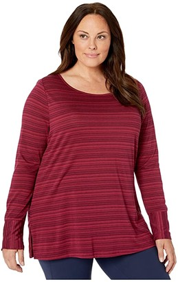 Aventura Clothing Plus Size Katya Long Sleeve (Dry Rose) Women's T Shirt