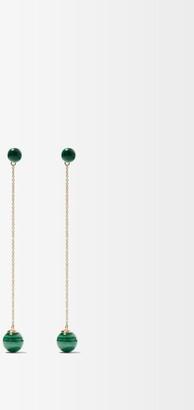 Mateo Ball Drop Malachite & 14kt Gold Earrings - Green Gold