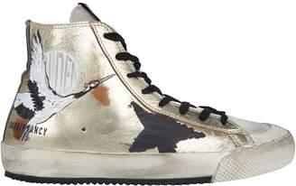 Golden Goose Francy High-Top Painted Star Sneakers