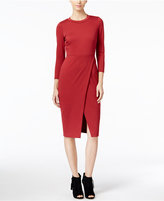 Catherine Malandrino Catherine Alistair Faux-Wrap Sheath Dress, Only at Macy's