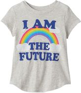 "Toddler Girl Jumping Beans® ""I Am The Future"" Rainbow Graphic Tee"