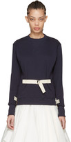 J.W.Anderson Navy D-ring Pullover