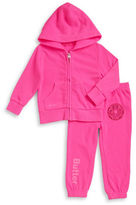 Butter Shoes Girls 2-6x Zip-Up Hoodie and Sweatpants Set