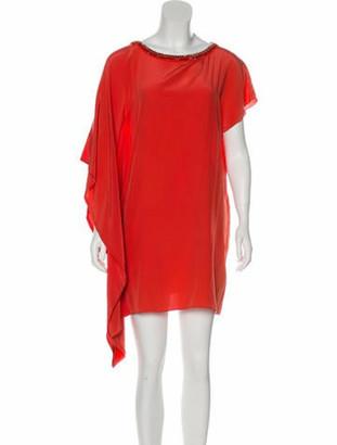 Johanna Ortiz Embellished Silk Dress Terracotta
