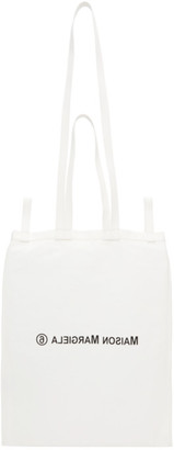 MM6 MAISON MARGIELA Off-White Double Handle Tote Bag