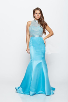 Milano Formals - Beaded Mesh Evening Gown E2140