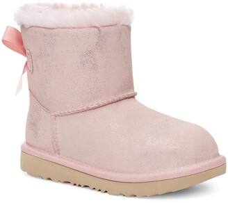 UGG Kids' Mini Bailey Bow II Shimmer Boot