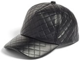 BP Quilted Faux Leather Ball Cap