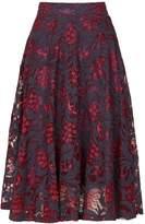 Izabel London *Izabel London Fuchsia Lace Prom Skirt