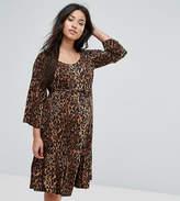 Mama Licious Mama.licious Mamalicious Leopard Print Woven Skater Dress