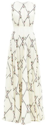 Emilia Wickstead Giordana Floral-print Crepe Maxi Dress - White Multi