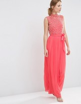Asos Pearl Bodice Maxi Dress