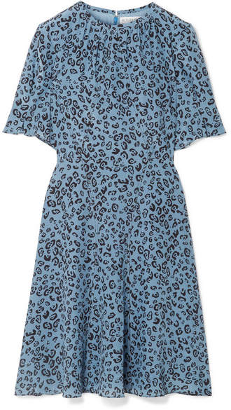 Altuzarra Jae Leopard-print Silk Crepe De Chine Dress - Blue