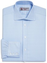Turnbull & Asser Large Textured Check Classic Fit Dress Shirt
