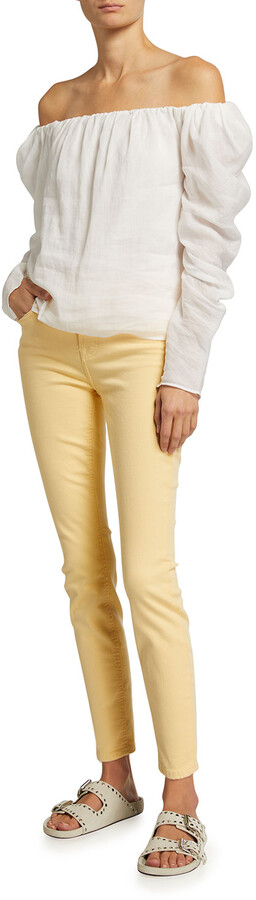 Thumbnail for your product : Jen7 Skinny Ankle High-Rise Colored Pants