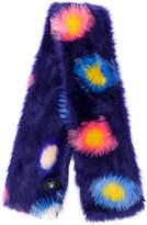 Paul Smith faux fur circle print scarf