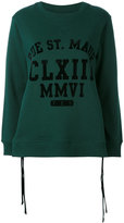 MM6 MAISON MARGIELA printed cutout sweatshirt - women - Cotton/Polyamide - XS