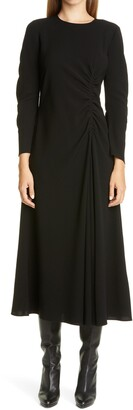 Lafayette 148 New York Collina Ruched Long Sleeve Midi Dress