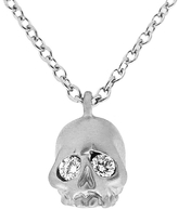 Finn Skull Necklace with Diamond Eyes - White Gold