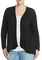 B Collection By Bobeau Curvy B Collection by Bobeau Curvy Drake Drape Front Cardigan