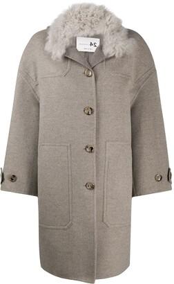 Manzoni 24 Contrast-Collar Coat