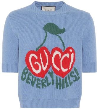 Gucci Intarsia cropped wool sweater