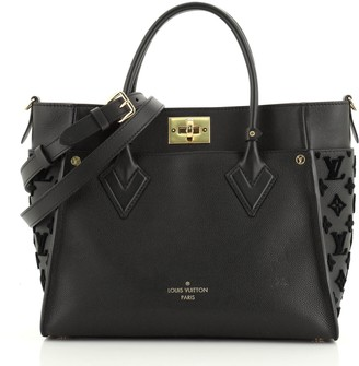 Louis Vuitton On My Side Tote Monogram Tuffetage Leather