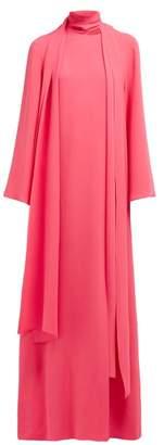 Carolina Herrera Draped Silk-georgette Gown - Womens - Pink