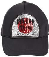Miu Miu Club Glitter Baseball Hat