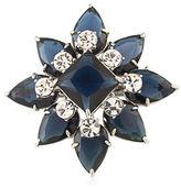 Carolee Crystal-Inset Silvertone Pin