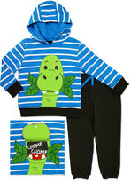Asstd National Brand Novelty 2-pc. Dino French Hoodie and Pants Set - Toddler Boys 2t-4t