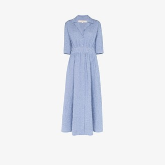 By Any Other Name Shirred Midi Dress