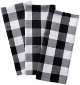 "DII Cotton Buffalo Check Plaid Dish Towels, 20x30"" Set of 3, Monogrammable Oversized Kitchen Towels for Drying, Cleaning Cooking, Baking"