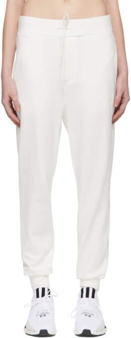 Y-3 White Classic Logo Lounge Pants