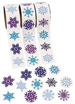Scrapbook 300 - Snowflake Stickers - 3 Assorted Rolls Crafts Christmas Stickers