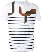 Neil Barrett abstract striped T-shirt - men - Cotton - L