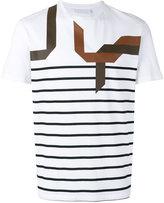 Neil Barrett abstract striped T-shirt - men - Cotton - S