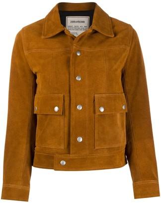 Zadig & Voltaire Suede Pointed Collar Jacket