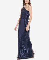 Lauren Ralph Lauren Sequined One-Shoulder Gown