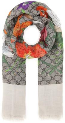 Gucci Floral Print Foulard