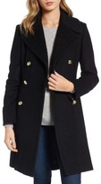 GUESS Petite Women's Double Breasted Wool Blend Coat