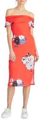 Rachel Roy Cameo Floral-Print Off-The-Shoulder Sundress