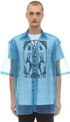 Raf Simons Short Sleeve Shirt W/ Organza Layer