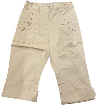 Christian Dior Camel Cotton Trousers