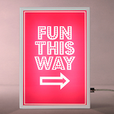 John Lewis Fun This Way Small LED Light Box, Pink
