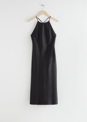 And other stories Criss Cross Strap Midi Dress