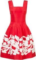 Oscar de la Renta appliqué-detail mini dress