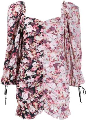 For Love & Lemons floral print mini dress