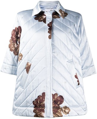 Ganni Floral-Print Quilted Jacket